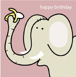 Animal Magic Birthday Card - Elephant